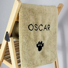 Pet Paw Brown Microfiber Towel